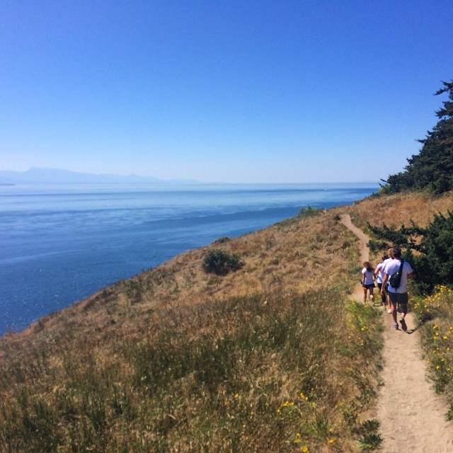 A wonderful hike along the ridge trail at Ebey's landing near Coupeville, on Whidbey Island