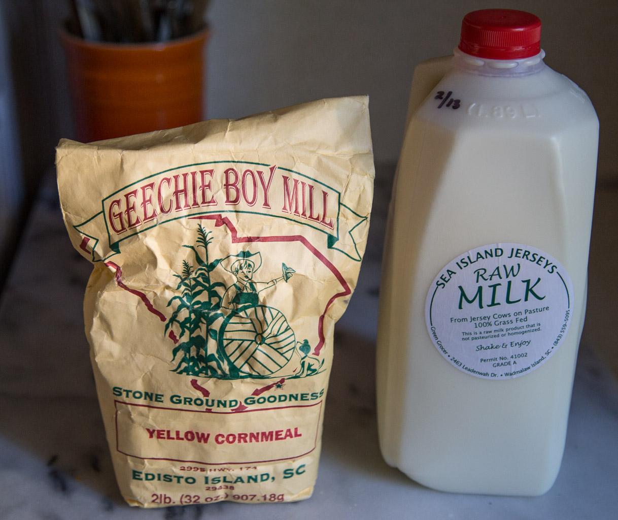 Geechie Boy cornmeal  and Sea Island Jerseys Raw Milk